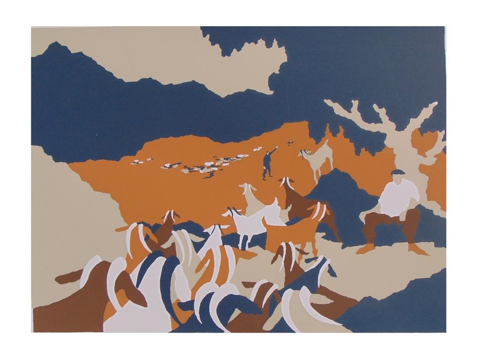 Goats II (original piece)