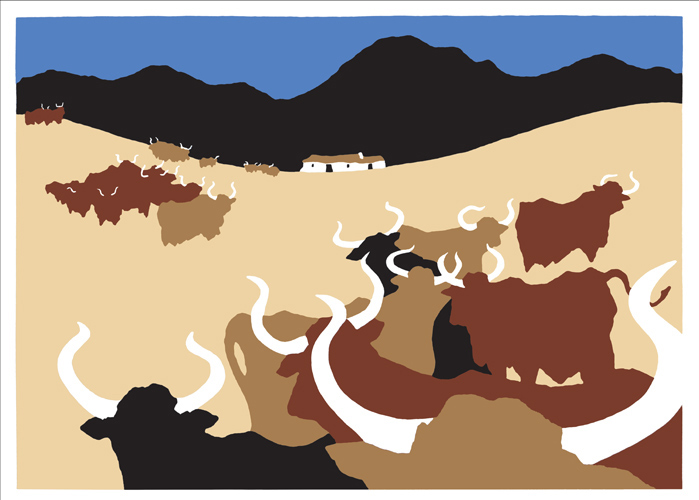 Cows I (Reproduction)
